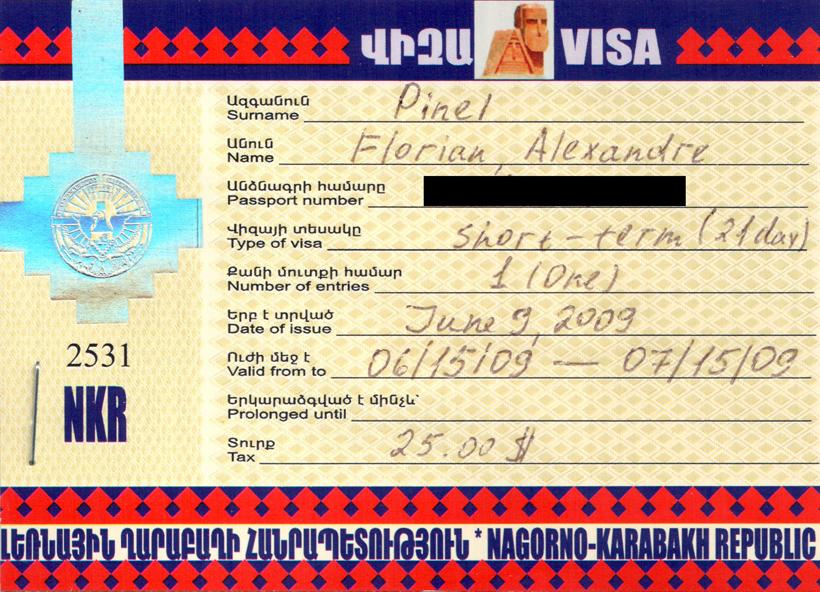 Nagorno-Karabakh Visa
