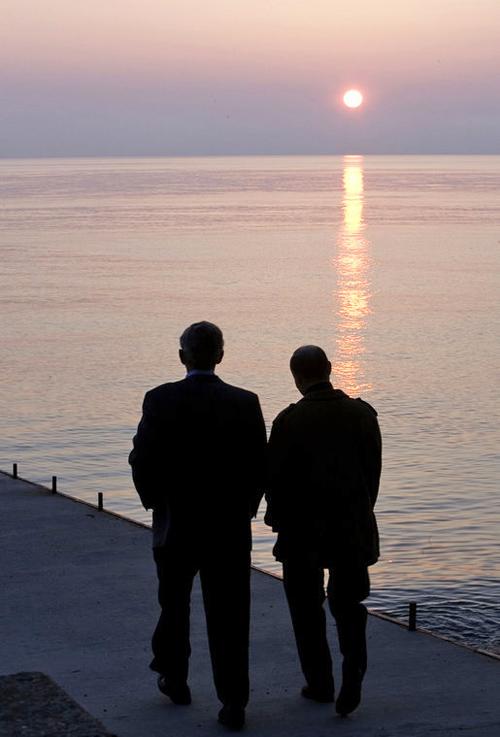 George W. Bush and Vladimir Putin