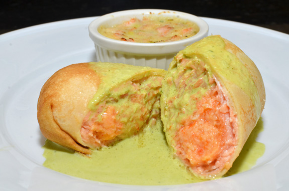 Vancouver Coho Salmon Fishing - Crab-Stuffed Salmon Paupiette and Salmon Brandade