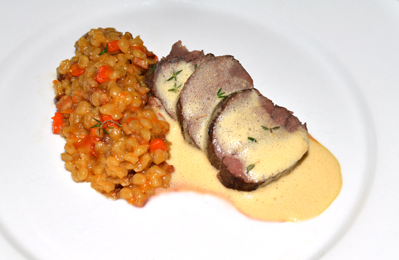 Latvian Hare - Sautéed Loin, Blackcurrant Balzam, Barley