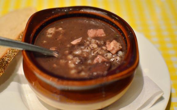 Czech Cuisine - Bohemian Hall - Pork and Barley Soup