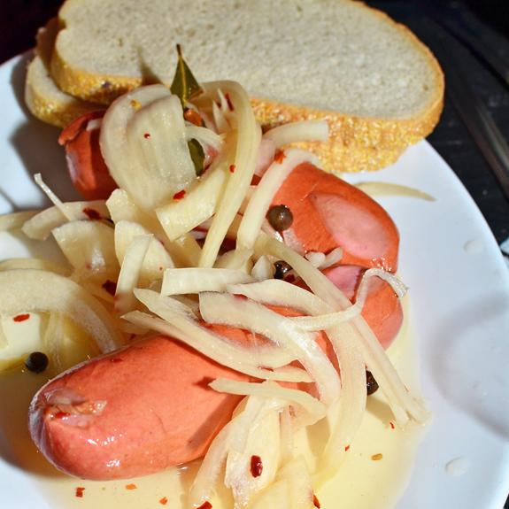 Czech Cuisine - Bohemian Hall - Pickled Sausage