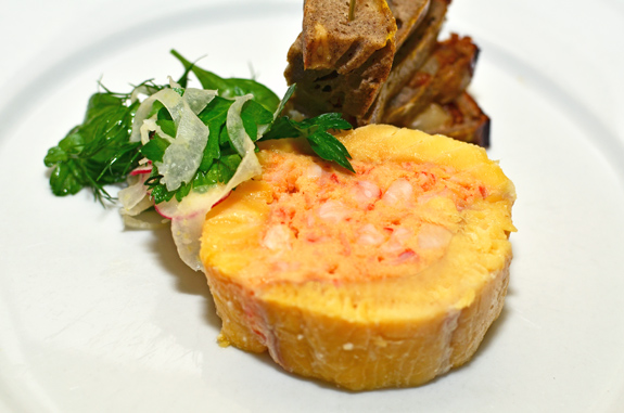 Russian Food - Lake Trout and Crawfish Ballotine