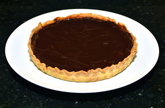 Prune and Chocolate Custard Tart