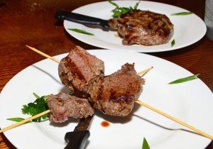 Moldovan Food - Restaurant Orasul Vechi - Veal Shashlyk and Steak