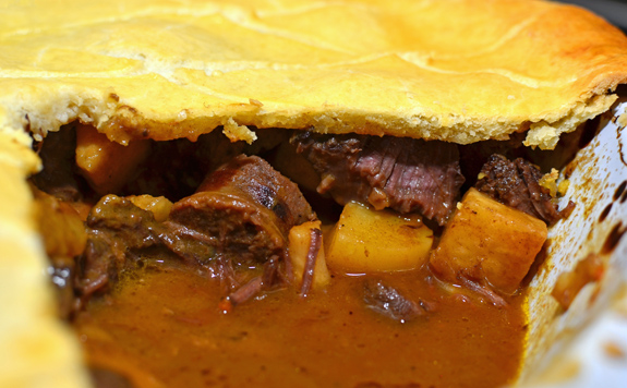 Venison and Root Vegetable Tourtière