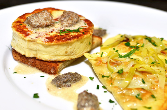Yellow Perch Cutlets, Artichoke Varenyky and Morel Sauce