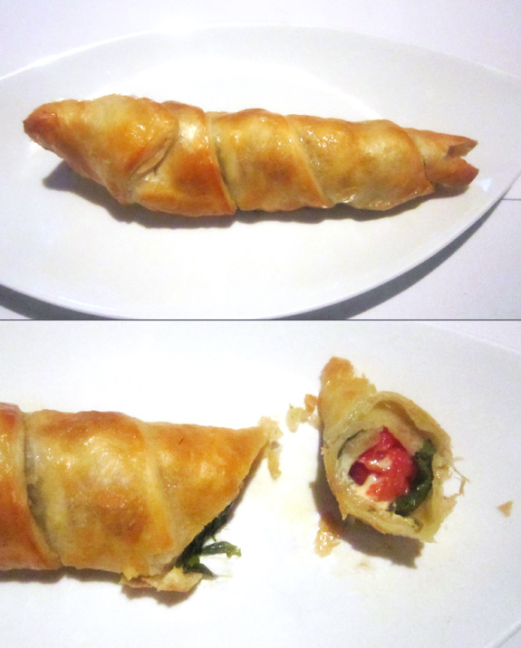 Kiev - Kazbek Restaurant - Khachapuri on a Skewer with Cheese, Tomatoes and Basil