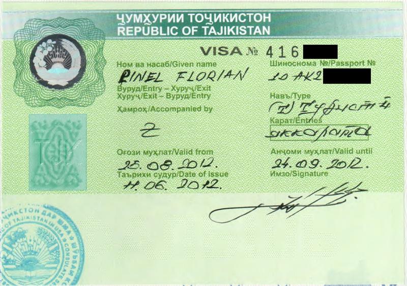 Tajik Visa