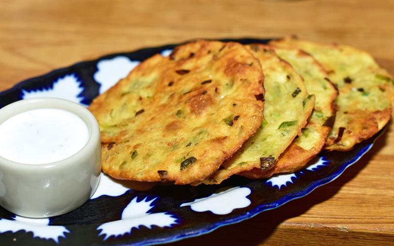 Uzbek Cuisine - Uma's - Scallion Pancakes