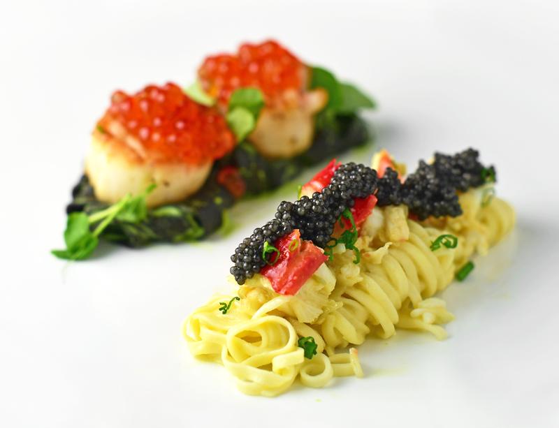 Pasta-Caviar Duo