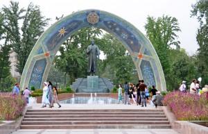 Dushanbe - Rudaki Park - Rudaki Statue