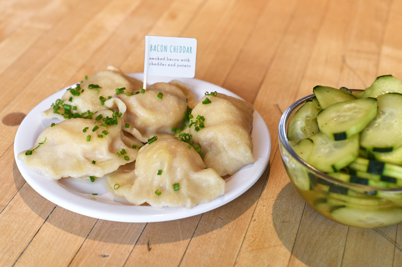 Slovak Food - Baba's Pierogies - Bacon Cheddar Pierogies