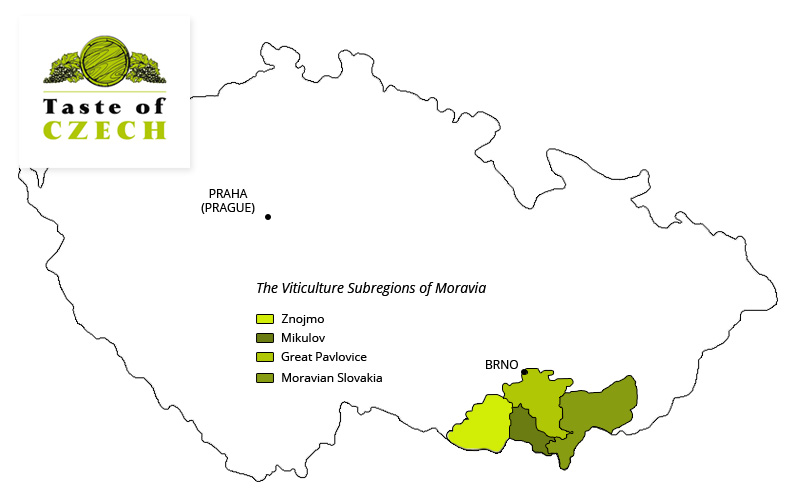 Moravia's Wine Subregions