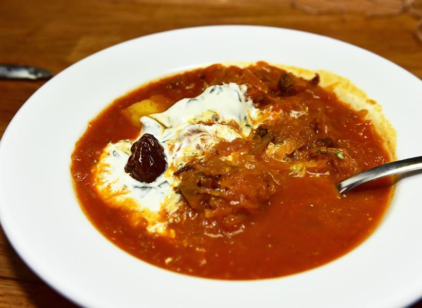 Bratislava - Kontakt Restaurant - Vegetarian Sauerkraut Soup