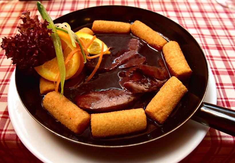 Sopron - Jégverem Inn - Venison Cutlet and Potato Croquettes