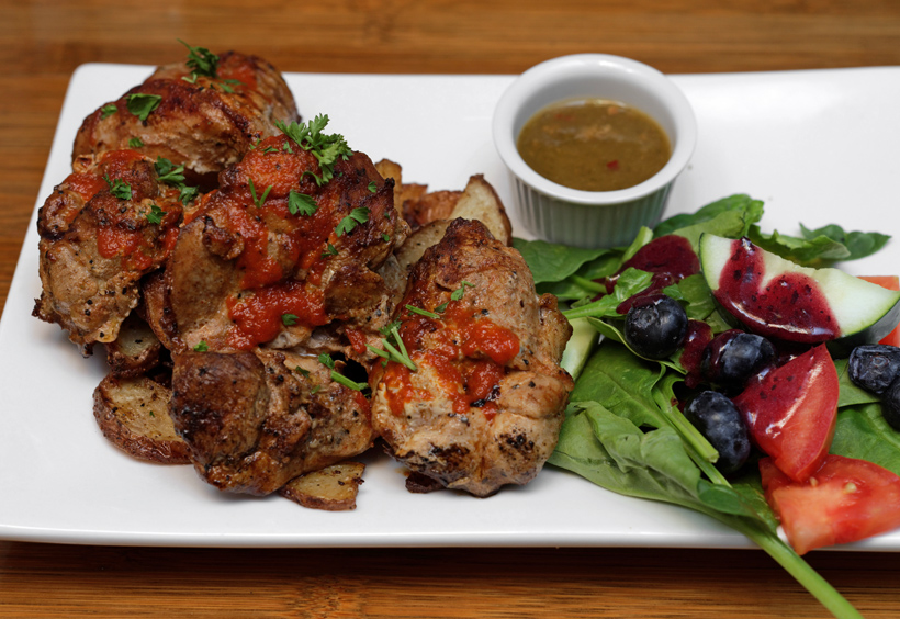 Georgian Cuisine - Cheeseboat - Chicken Kebab