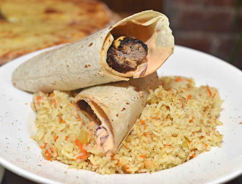 Georgian Cuisine - Cheeseboat - Lamb Kebab