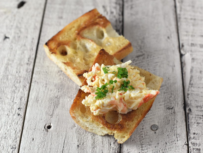King Crab Rillettes and Apple-Onion Mostarda