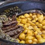 Tashkent - National Food Restaurant - Dolma and Potatoes