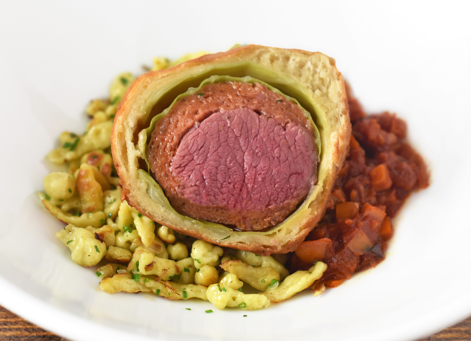 Hungarian Lamb Wellington, Galuska and Lecsó