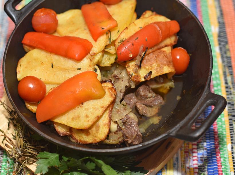 Tatar Cuisine - Kazan Chay Bar - Lamb Kazan-Kyzgan