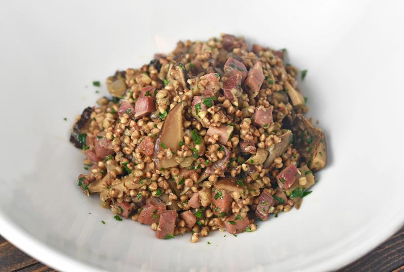 Siberian Cuisine - Porcini and Pancetta Kasha