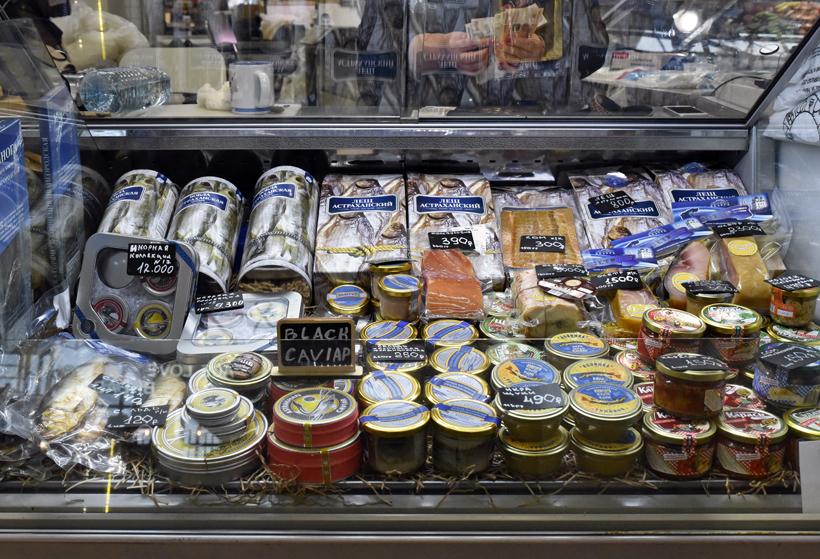 Moscow - Danilovsky Market - Caviar