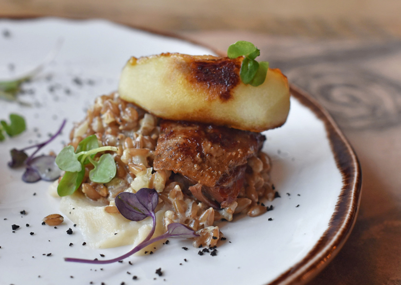 Moscow - Pirogi Vino i Gus - Roasted Goose with Apples, Spelt and Celery Root