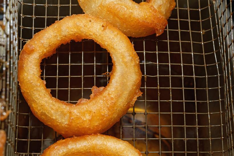 Russian Gastrocafé Goose Burger - Onion Rings