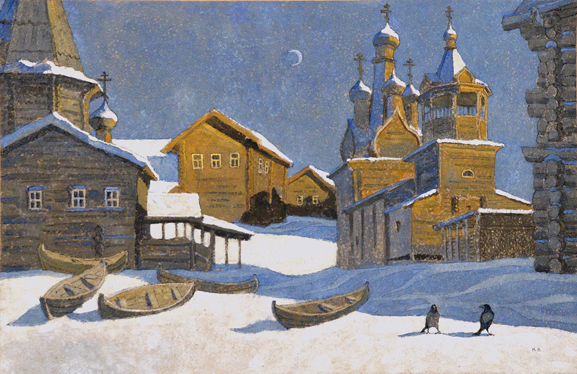 Valeriy Komarov -  Church of the Hodigitria Icon of the Virgin, Kimzha (Arkhangelsk region)