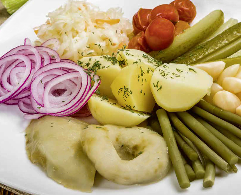 Assortment of Brined Vegetables at Pomorsky Restaurant