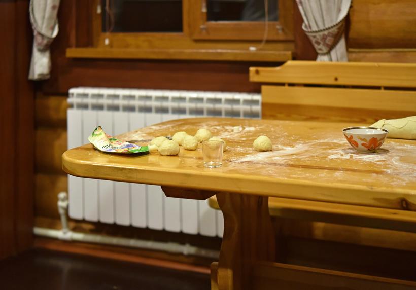 Russia - Lake Lacha - Making Potato Kalitkas