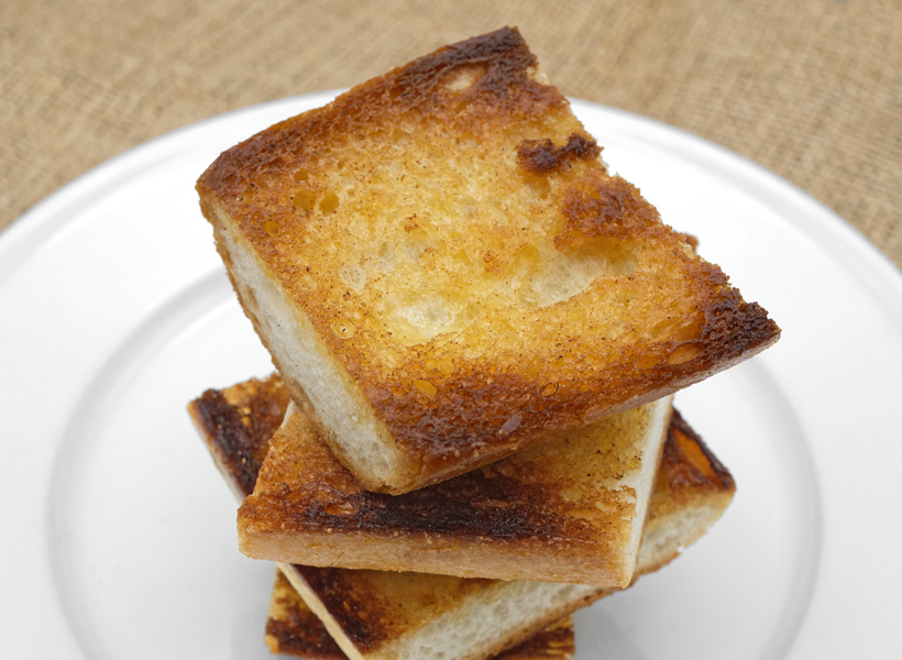 Russian Cuisine - Toasted Baguette for Pomor Fish Soup