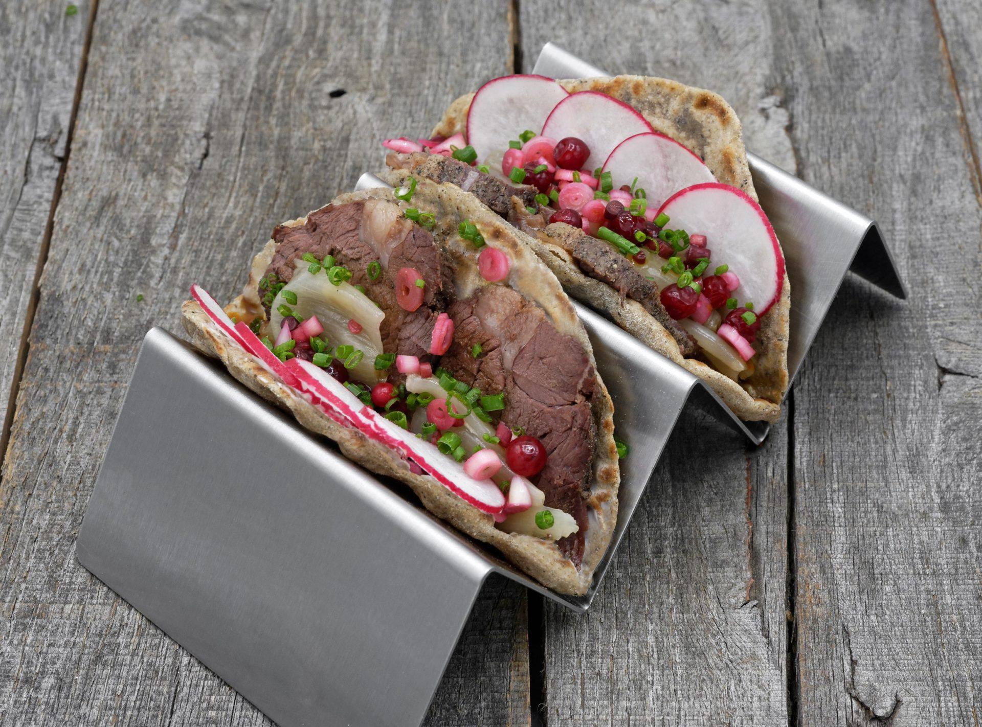 Buckwheat Tacos with Bear