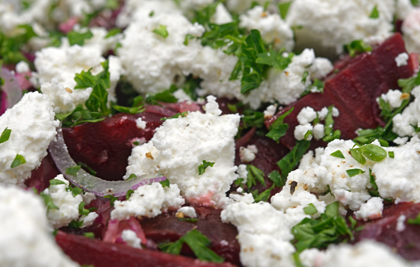 Russian Food - Beet and Goat Cheese Salad