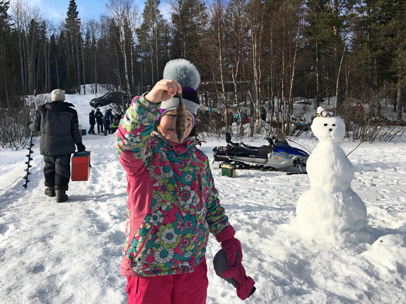 Russia - Solovki - Ice Fishing Contest