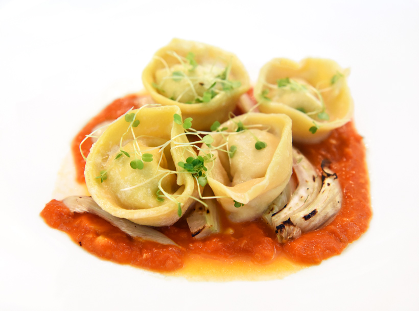 Zagreb - Dubravkin Put Restaurant - Amberjack Cappellacci with Roasted Fennel and Tomato Sauce