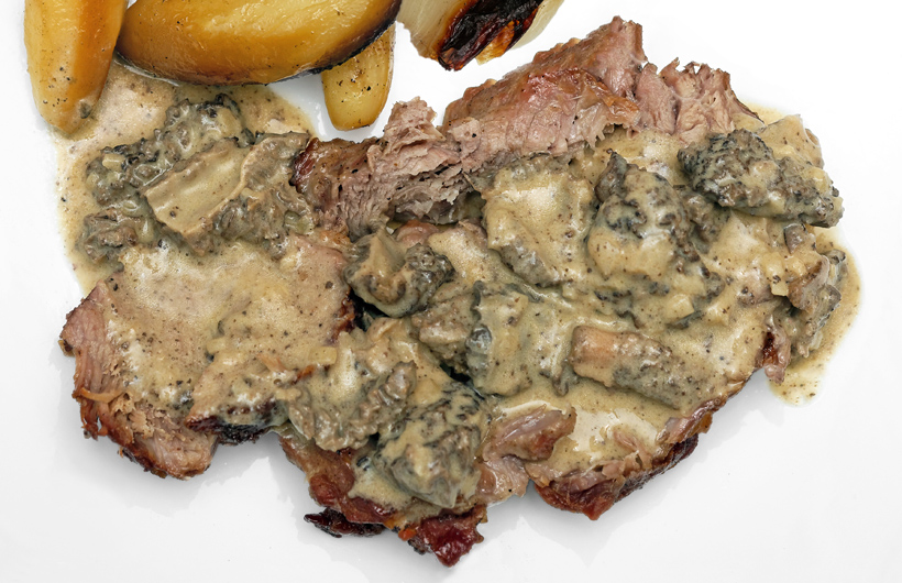 Croatian Cuisine - Veal under the Bell with Morel Sauce