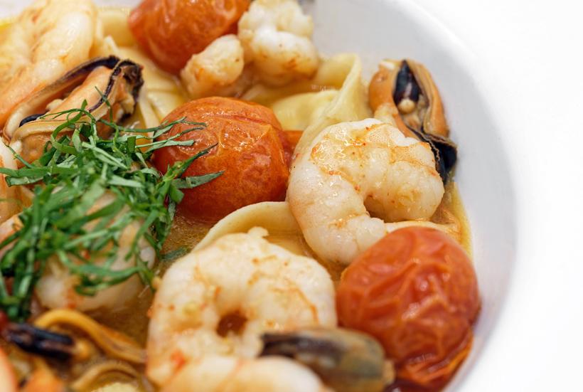 Croatian Cuisine - Dalmatian Shellfish and Cheese Tortellini in Tomato Broth