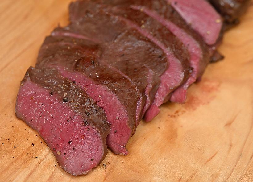Arctic Cuisine - Venison Heart, Lingonberry Sauce, Spelt and Celery Root Purée