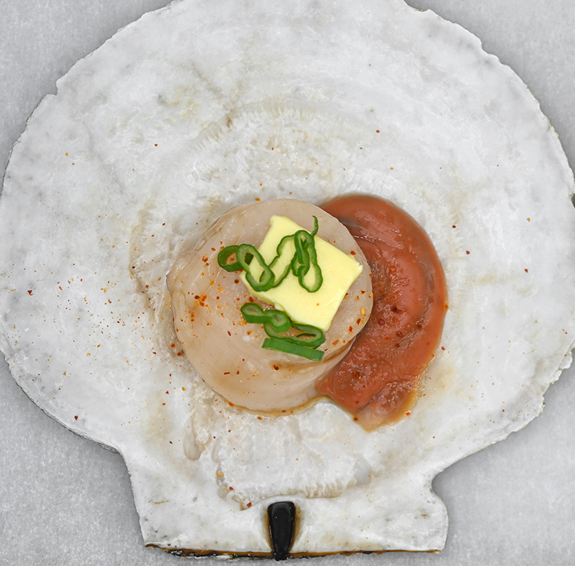 Russian Far North - Arctic Scallops and Crab Rice Polenta