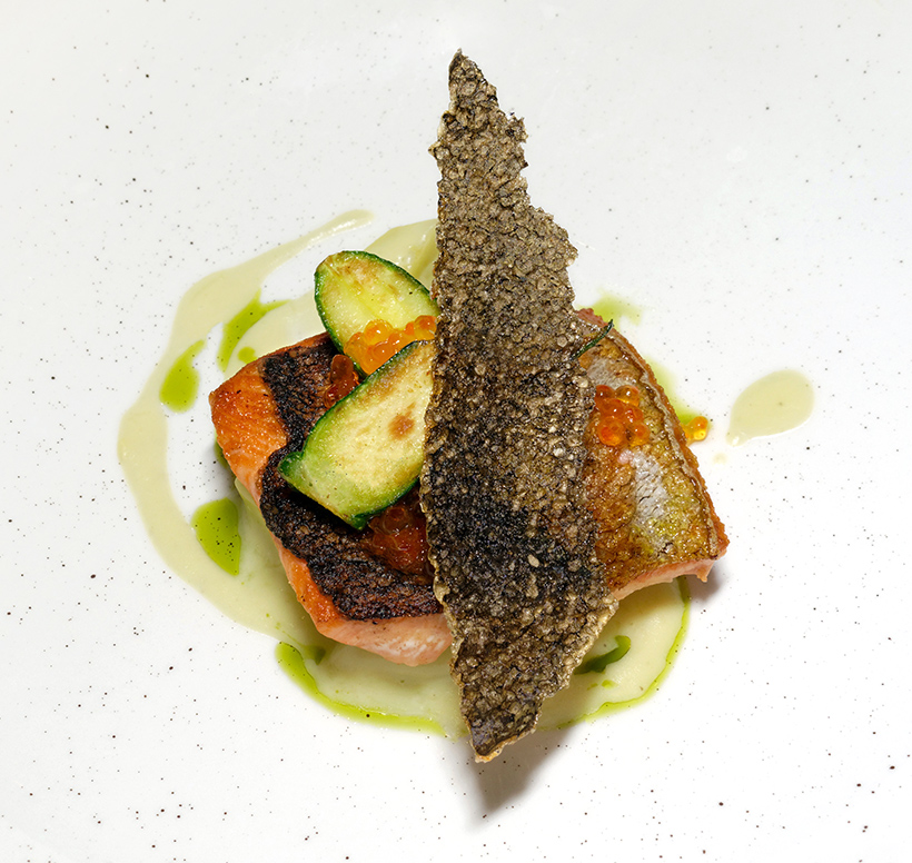 Budapest - Textura Restaurant - Salmon Trout, Zucchini, and Squash Cream