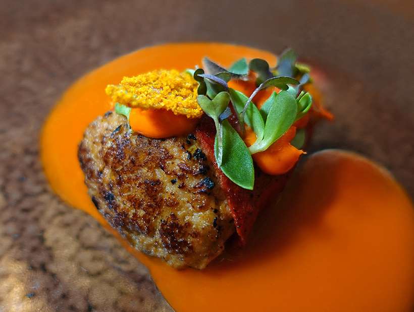 "Budapest - Onyx Restaurant - ""Stuffed Paprika"", Lamb, Tomato"