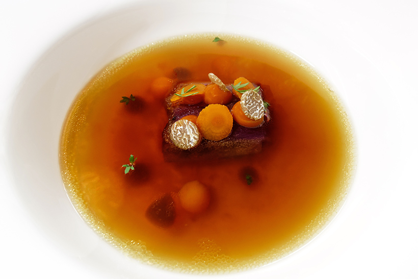 Budapest - Onyx Restaurant - Rooster Consommé