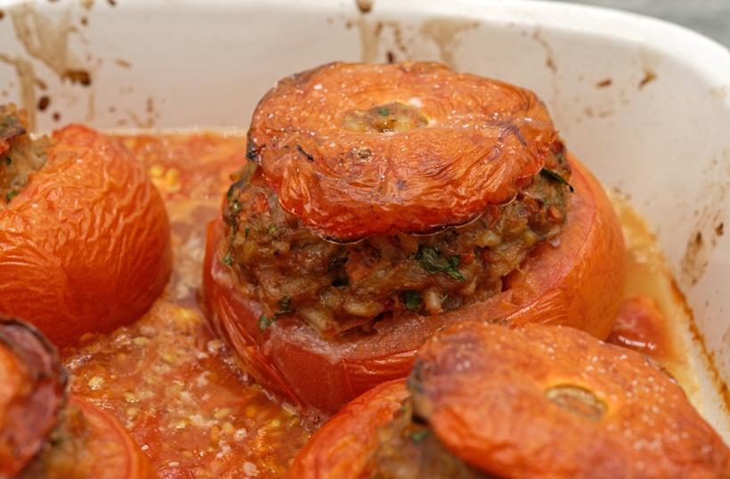 Serbian Stuffed Tomatoes