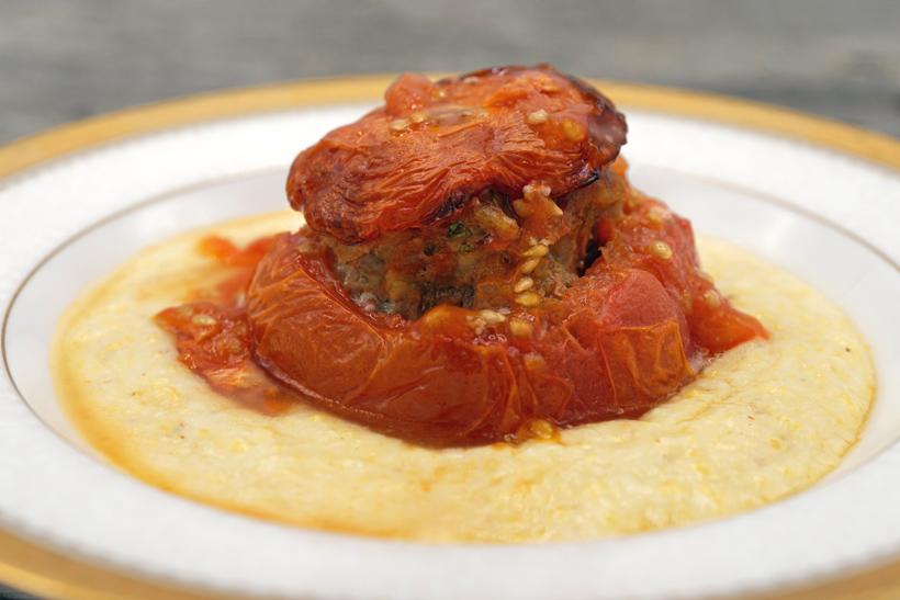 Montenegrin Stuffed Tomatoes and Cicvara