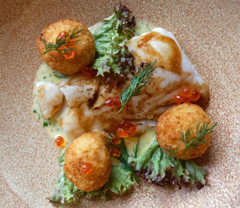 Arkhangelsk - Pochtovaya Kontora Restaurant - Sous-Vide Cod with Bearnaise Sauce and Smoked Potato Croquettes